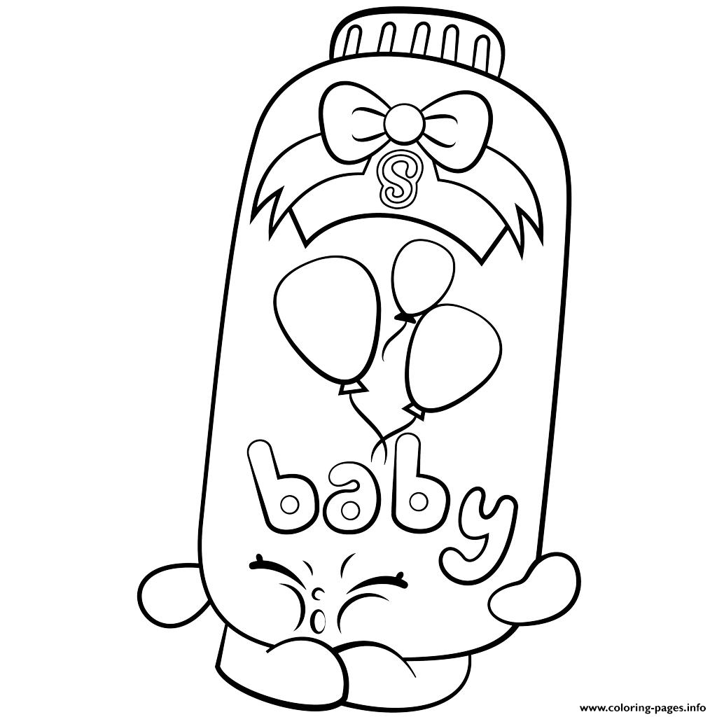 clip royalty free library Drawing printables shopkins. Print powder baby puff