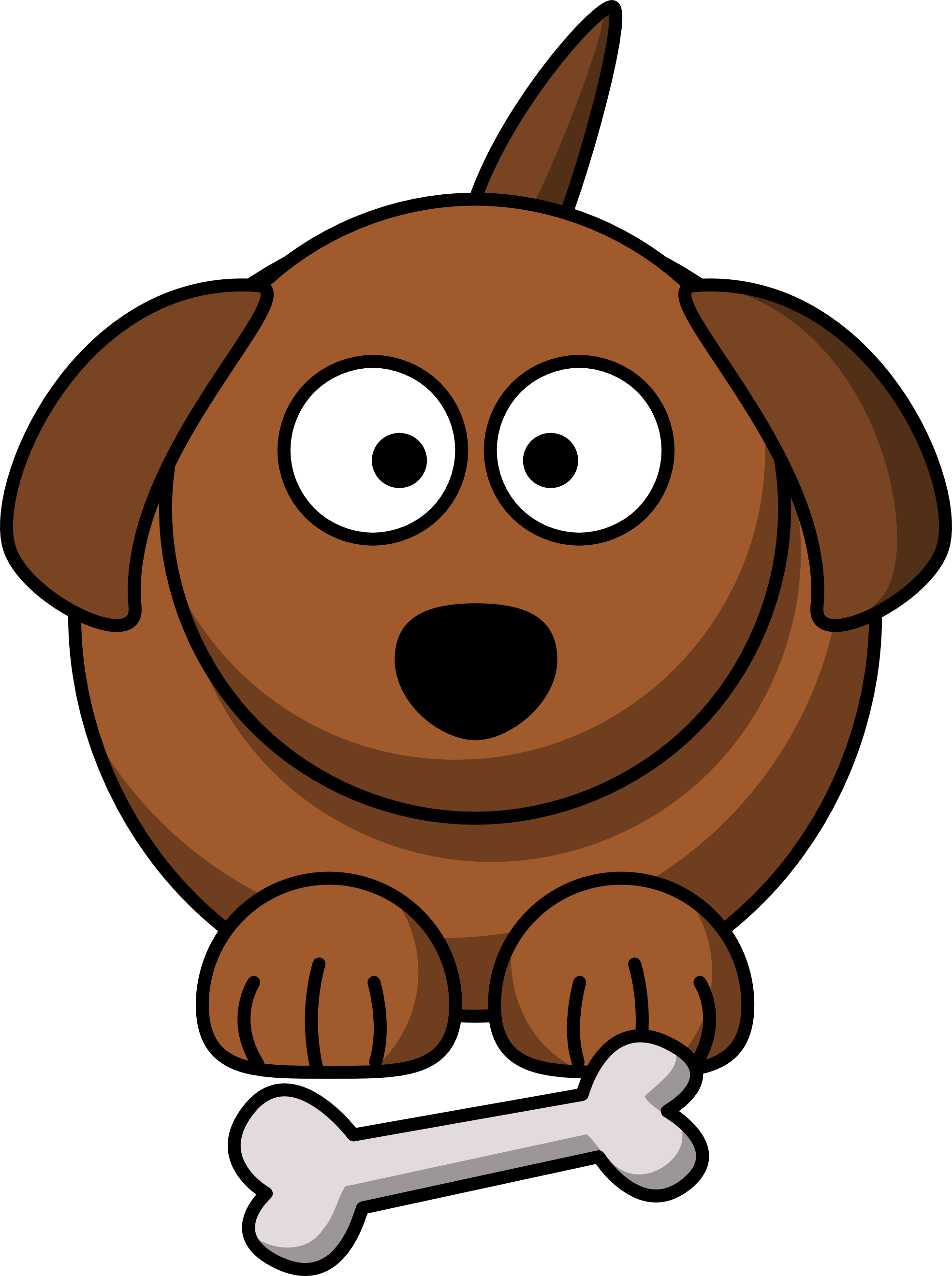 clipart black and white sick dog clipart #62347093