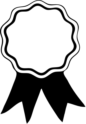 svg stock President clipart black and white. Medal for winners of