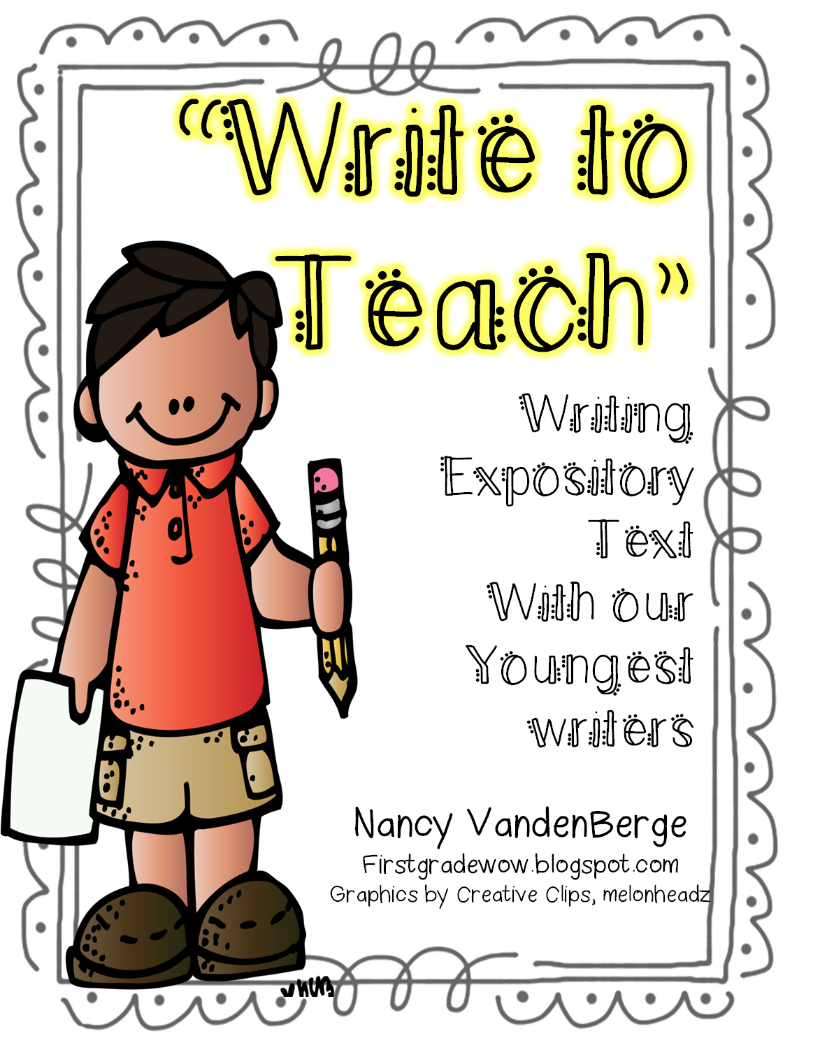 picture freeuse stock Writer clipart animated writing. Handwriting expository essay frames