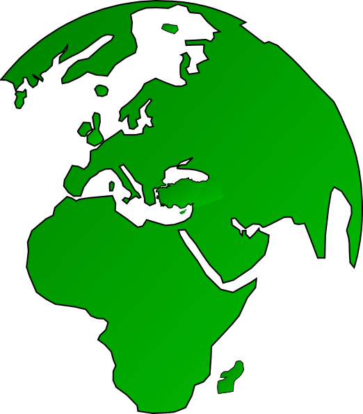 vector free African Globe Map Green Clip Art at Clker