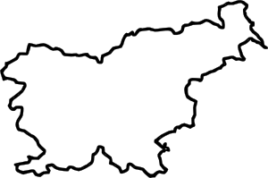 png black and white stock Map Of Slovenia