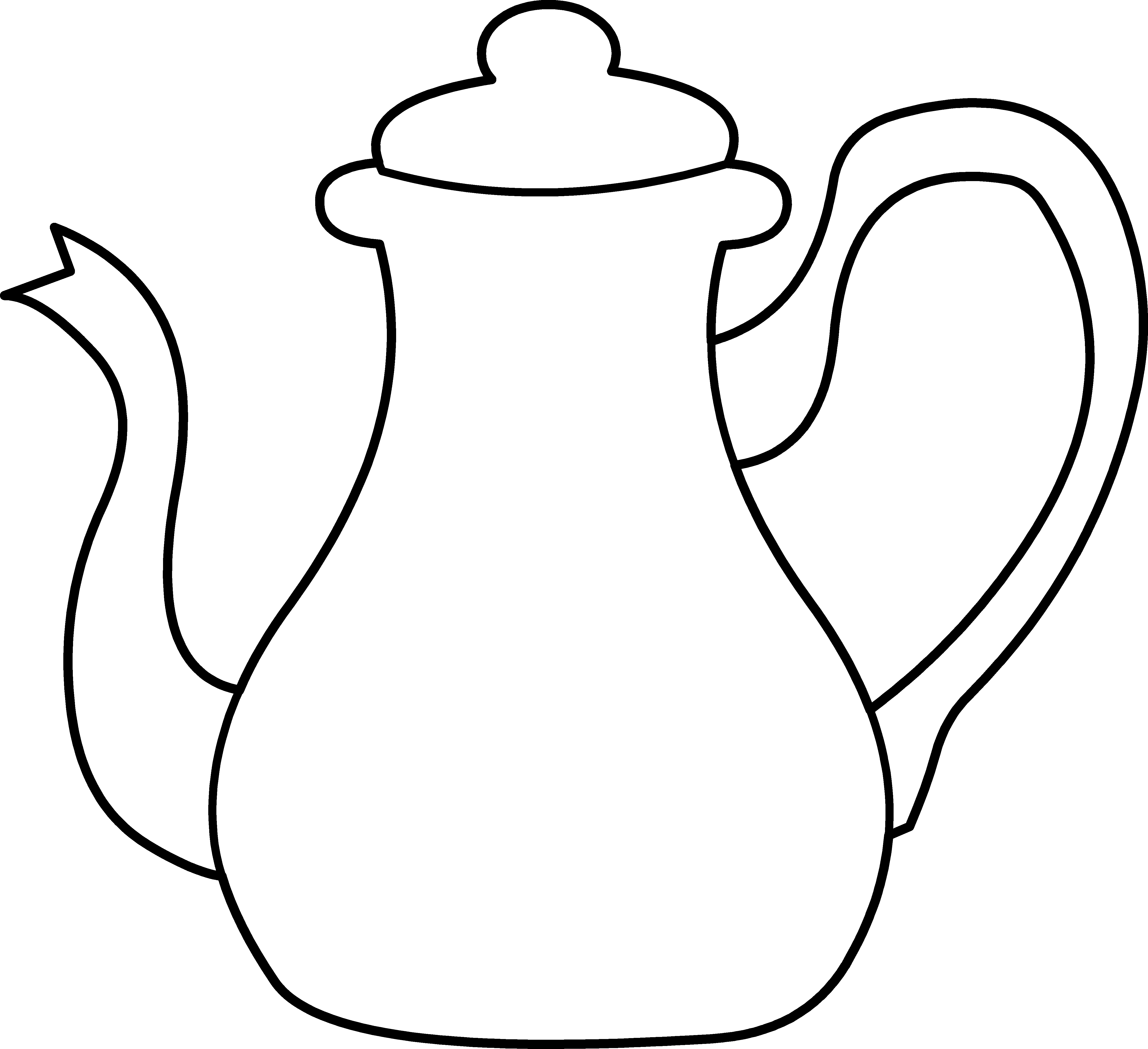 png black and white stock Tea Cup clipart kettle