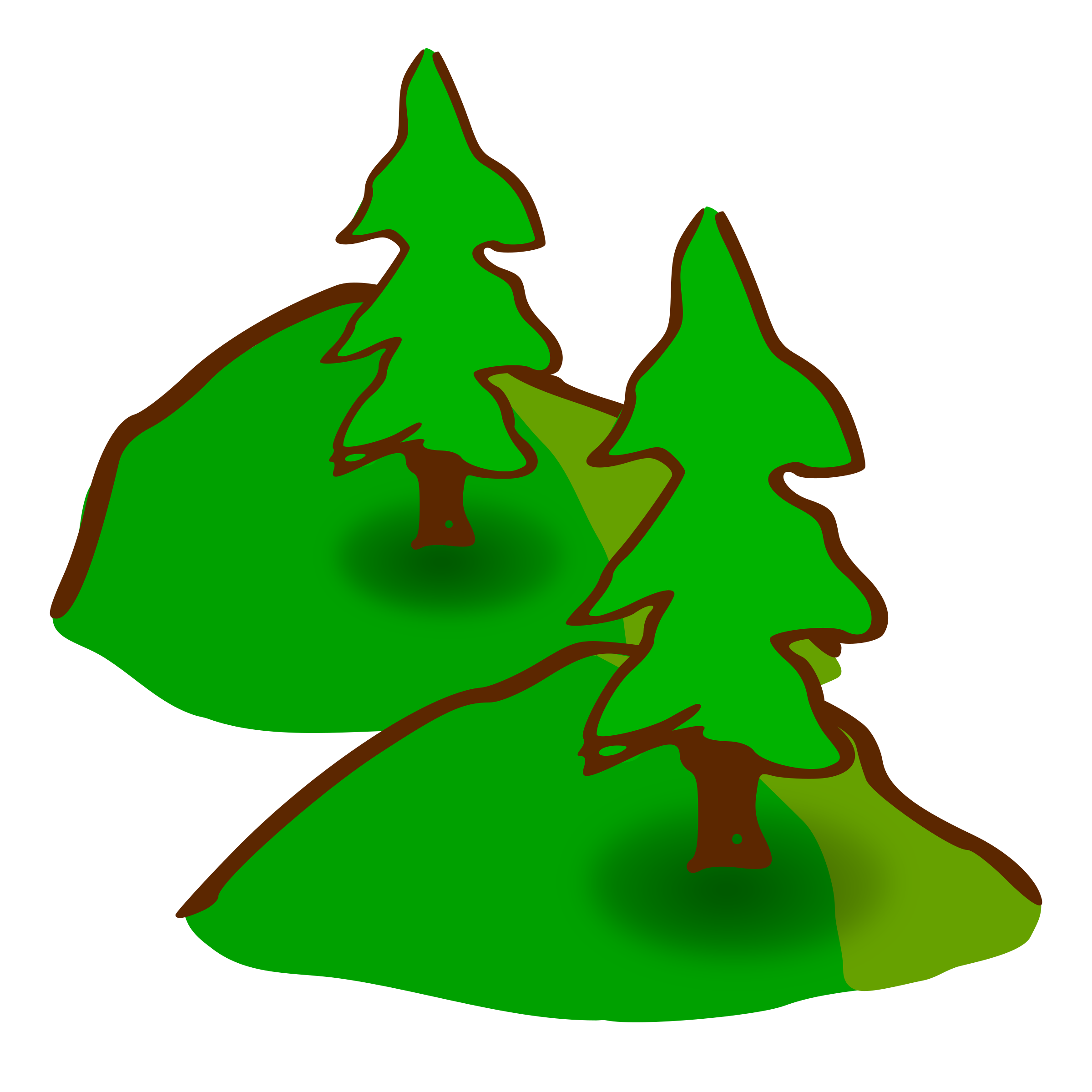 clip library library Evergreen clipart. Hills big image png