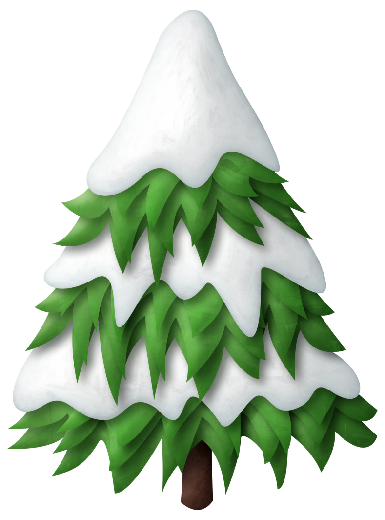 vector stock Snowing clipart tree. Green snowy christmas png.