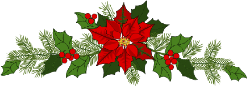banner black and white library Evergreen clipart swag. Of christmas wreaths image.