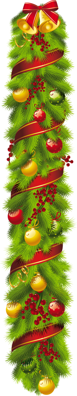 clipart freeuse library Christmas vertical clip art. Evergreen clipart swag
