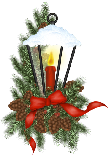 jpg royalty free stock Christmas lantern clip art. Evergreen clipart swag