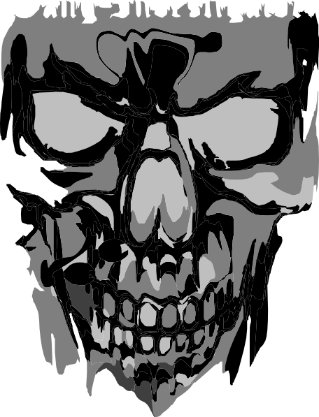 picture transparent download Scary skull clip art. Bones transparent punk rock