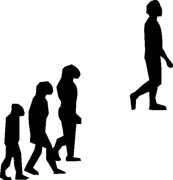 black and white download Clip art at clker. Evolution vector