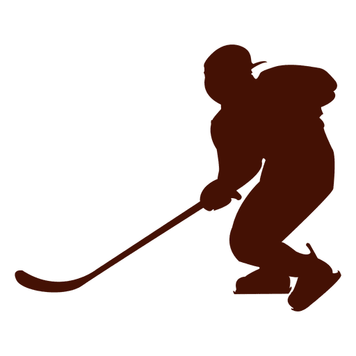 black and white download Hockey ice player silhouette