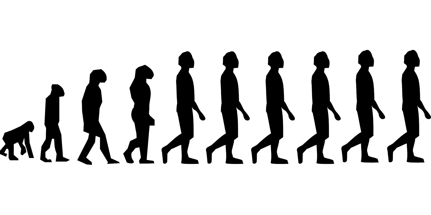 graphic royalty free Evolution vector human. Economist suggests humans are