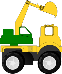 vector black and white library Cartoon clip art freebies. Bulldozer clipart excavator