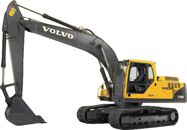 image transparent stock Clip art at clker. Excavator clipart