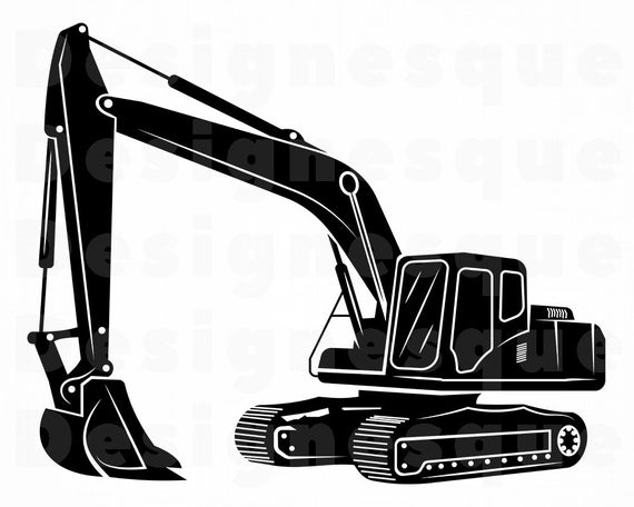 png transparent download Excavator clipart. Svg heavy equipment files