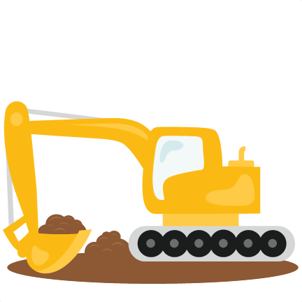 banner royalty free download Backhoe clipart silhouette.  collection of excavator
