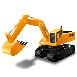 clip art library Yellow icon png image. Excavator clipart