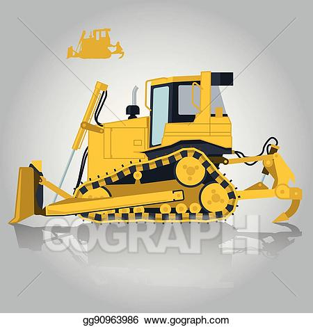 clipart free Vector art yellow big. Excavator clipart construction project