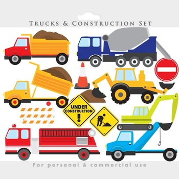vector royalty free stock Excavator clipart construction project. Trucks clip art backhoe