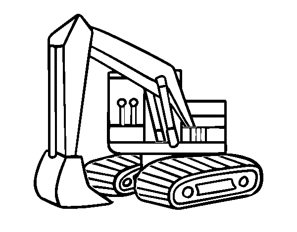 clip art transparent stock An coloring page coloringcrew. Excavator drawing