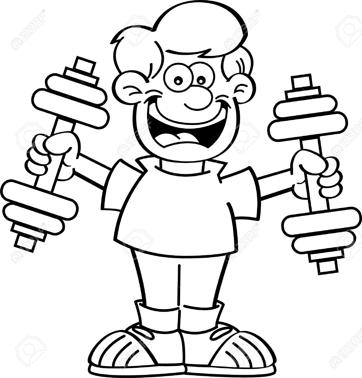 jpg black and white stock Collection of free exercised. Exercise clipart black and white