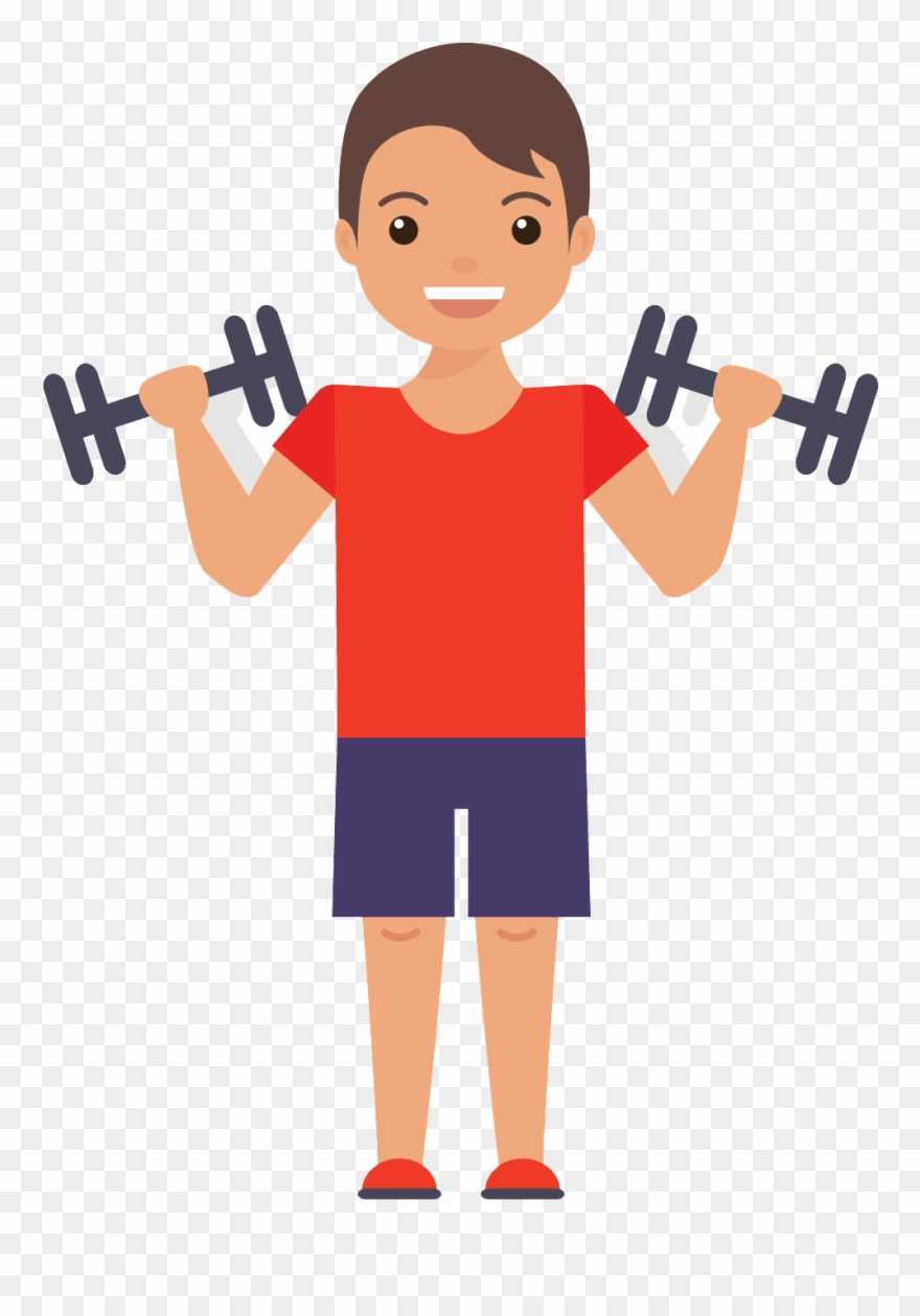 jpg free download Exercising clipart. Muscles gym exercise flat