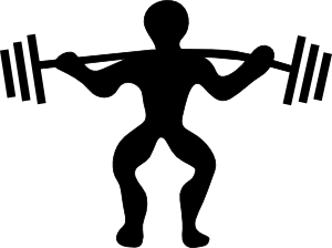 png free library Cartoon lifting clip art. Weights clipart gain weight