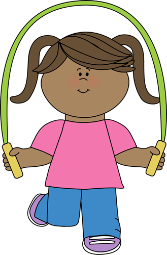 svg free Girl Jumping Rope Clipart
