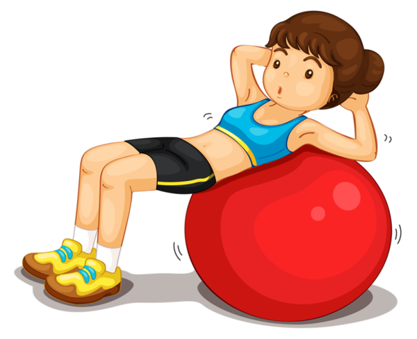 clipart royalty free library Gym clipart physical fitness. Personnages hry a pohyb