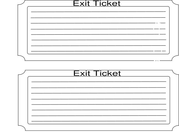 jpg royalty free stock Exit Ticket Clip Art at Clker