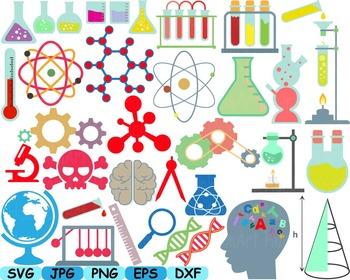 clipart School clip art svg. Experiment clipart math science