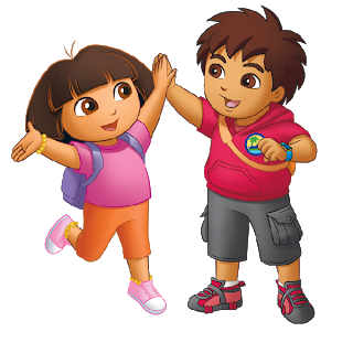 vector transparent download Dora the online cartoon. Explorer clipart.