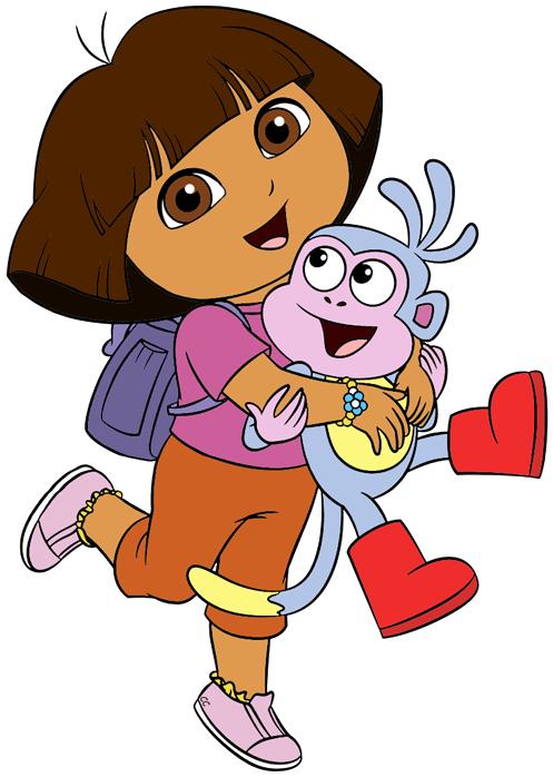 vector freeuse Dora the Explorer Clip Art