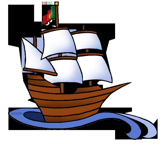 clip art black and white library Sailing Ship clipart explorer ship