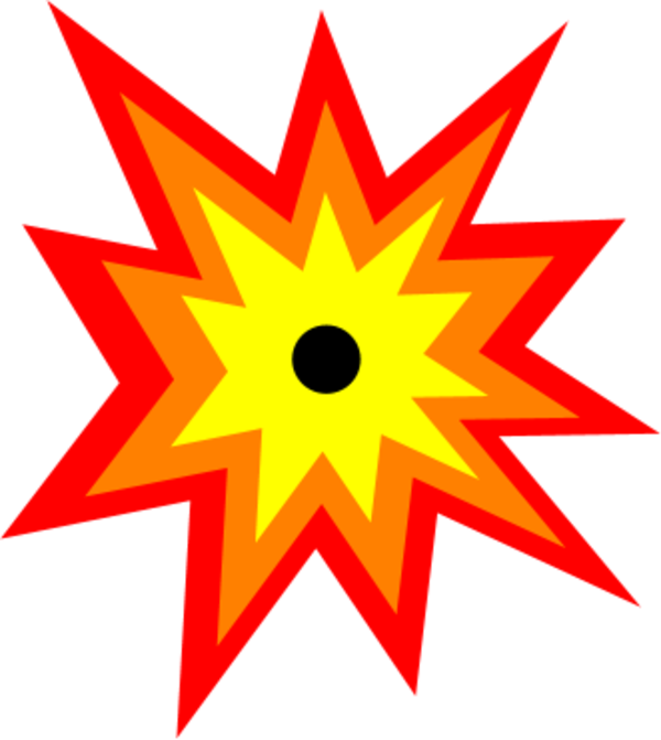 clipart black and white stock Explosion clip. Art clipart free.