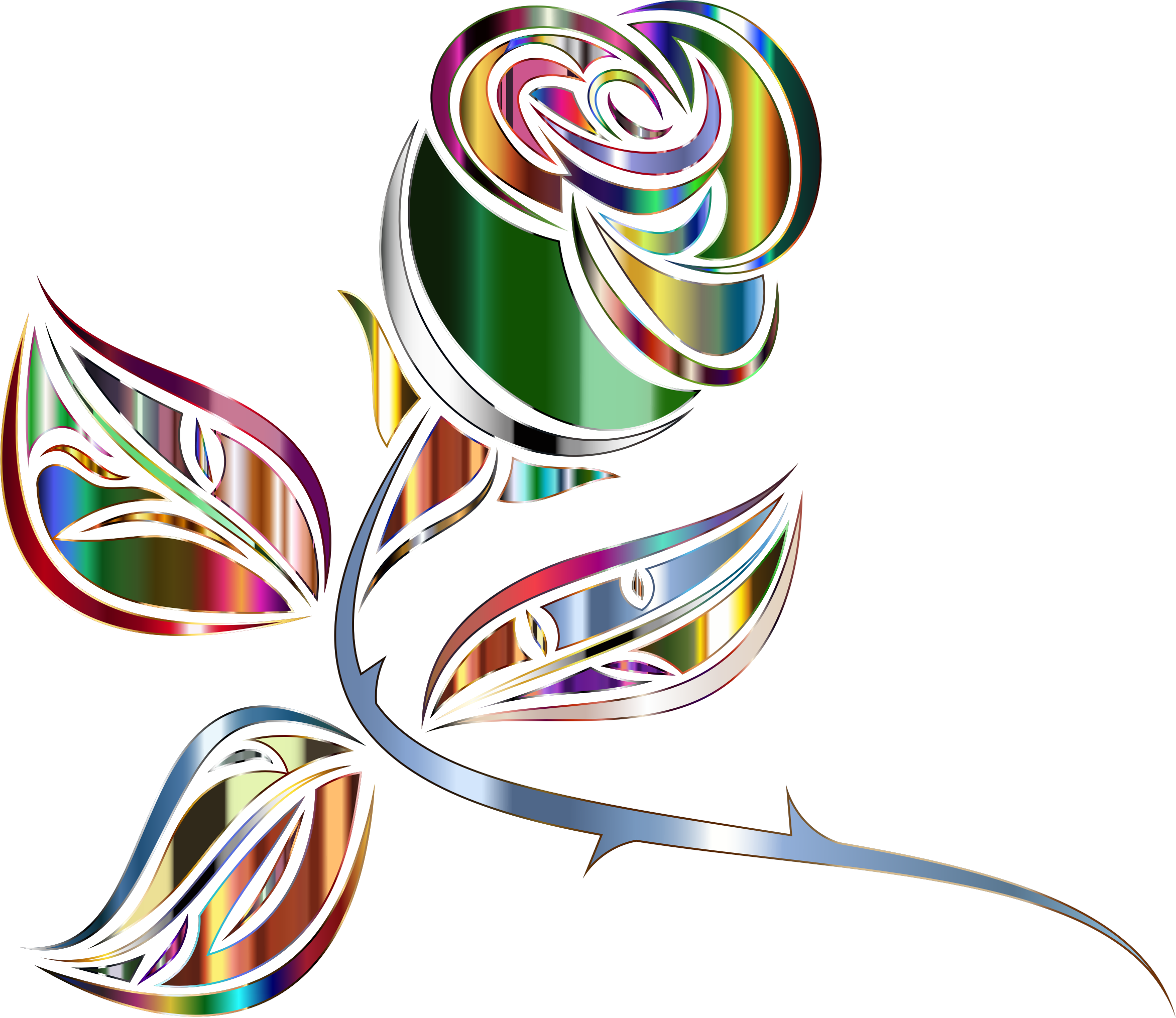 banner free library Stylized rose minus background. Extended clipart
