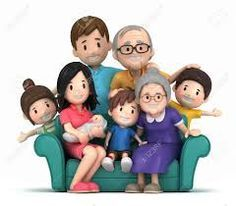 jpg black and white library Extended clipart complete family. Google search