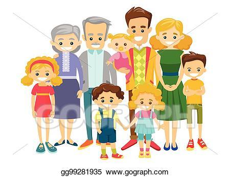 clip transparent download Grandparent clipart extended family. Vector art happy caucasian