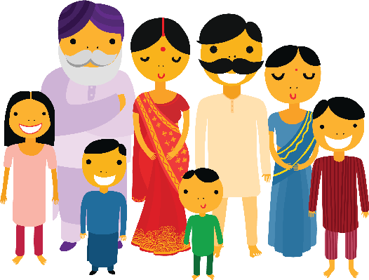 svg stock india clipart family #39396827