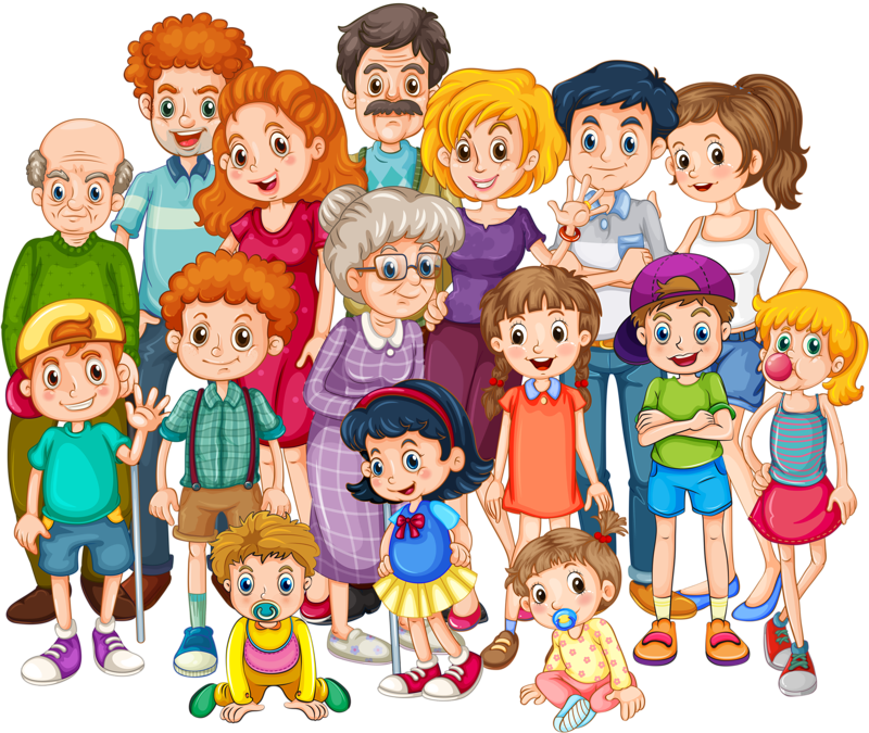png library stock Grandparent clipart extended family.  qo s ln.