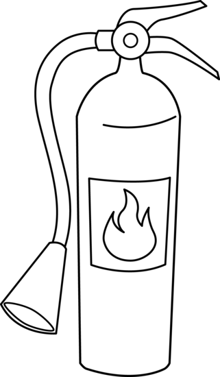 clip art transparent library Fire Extinguisher Coloring Page