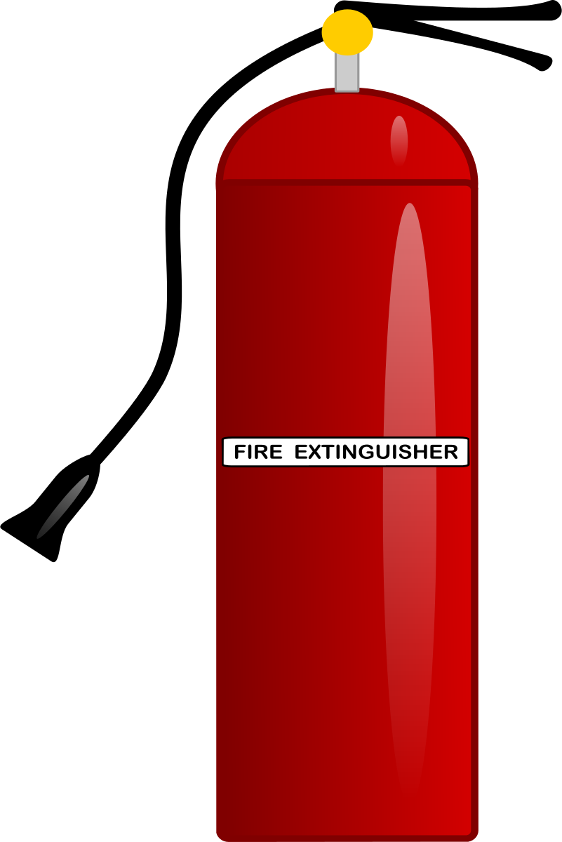 clip black and white Extinguisher Clipart