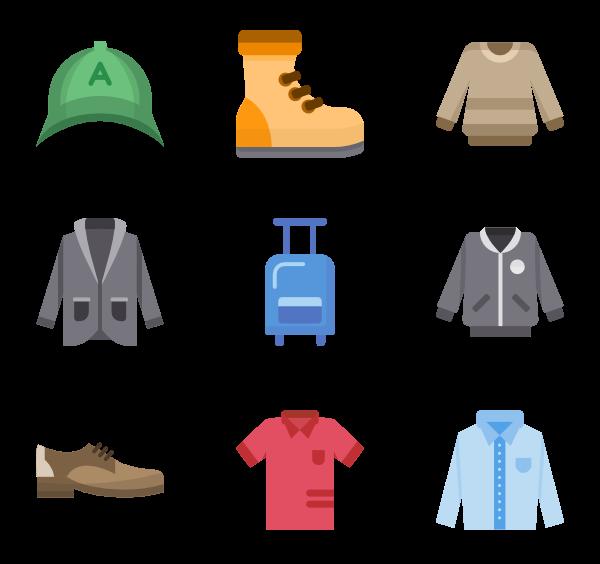 vector transparent Clothes Icons