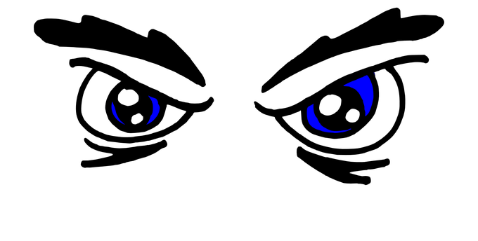 image royalty free download Eye clipart black and white. Angry eyes jidimakeup com