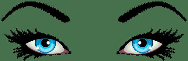 graphic stock Cartoon Girl Eyes Clipart