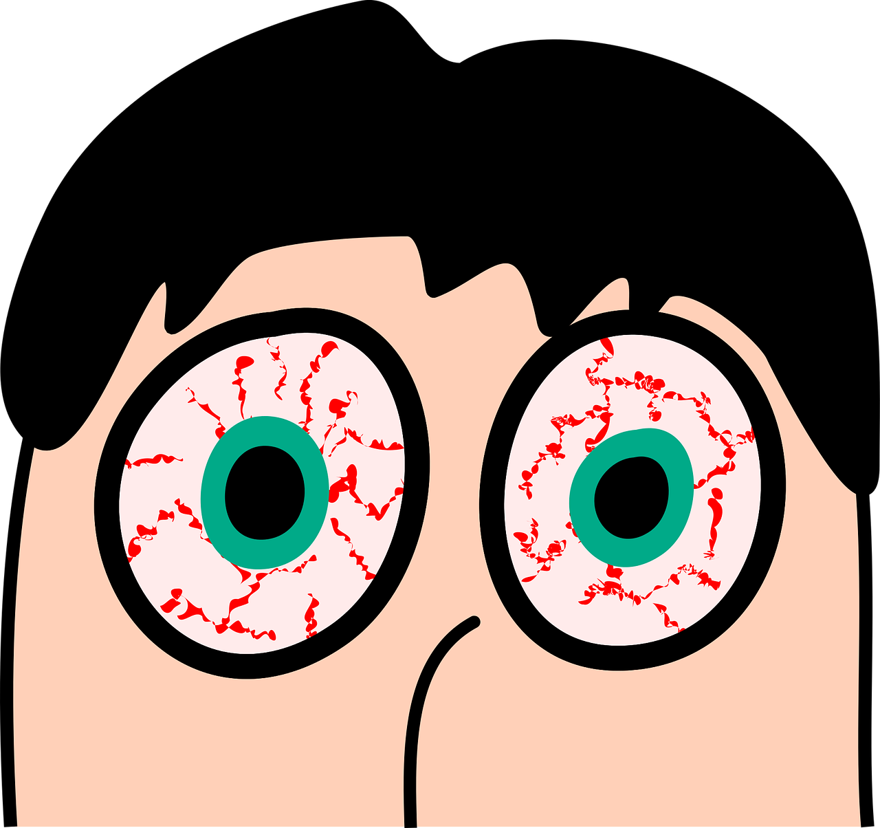 picture free stock Itchy Eyes Clip Art