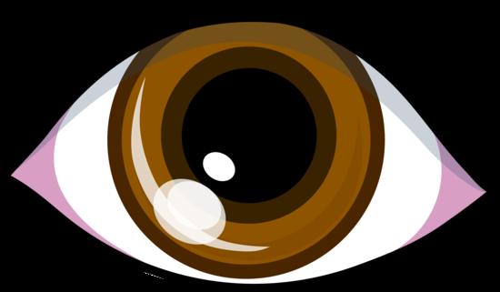 svg stock Simple Brown Eye Symbol