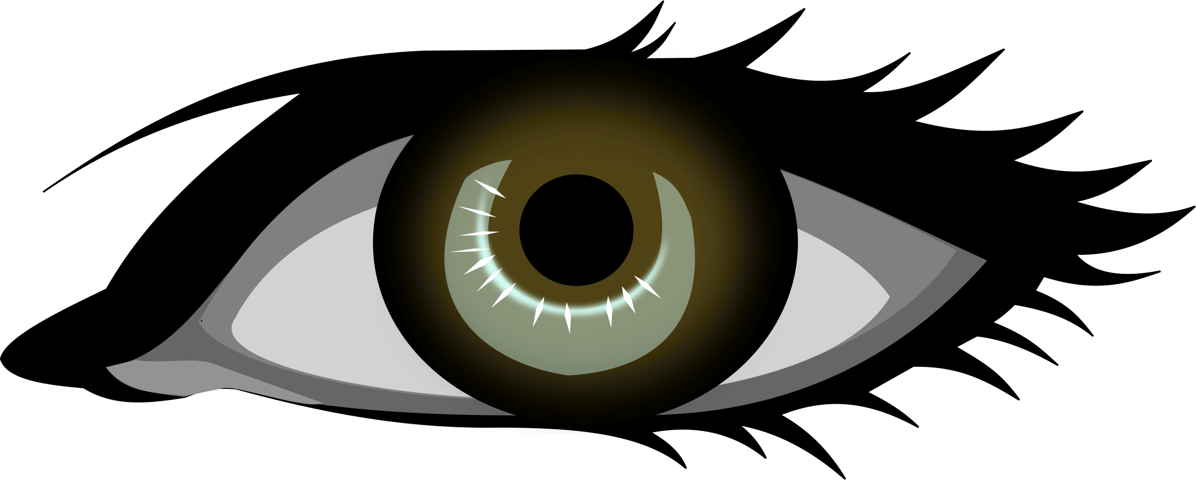 clip royalty free stock Clipart eye brown eye