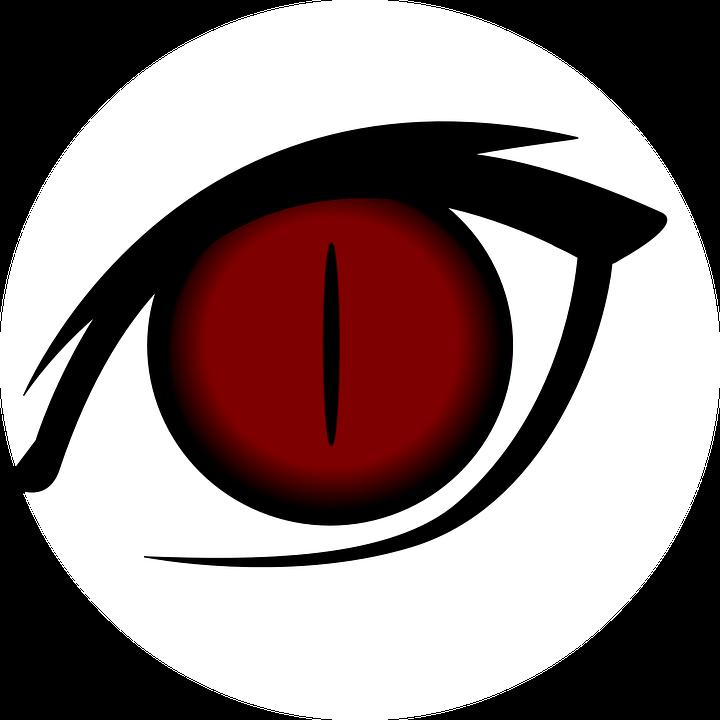 clip art black and white stock Red Eyes Clipart festival
