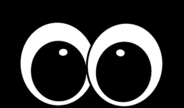 black and white eyeball clipart mummy #34680686
